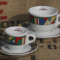 Ottolina colored coffee cups